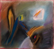 <p><em>The Strength of Dreams and Intuition #1 </em>, 9″ x 9″, pastel</p>